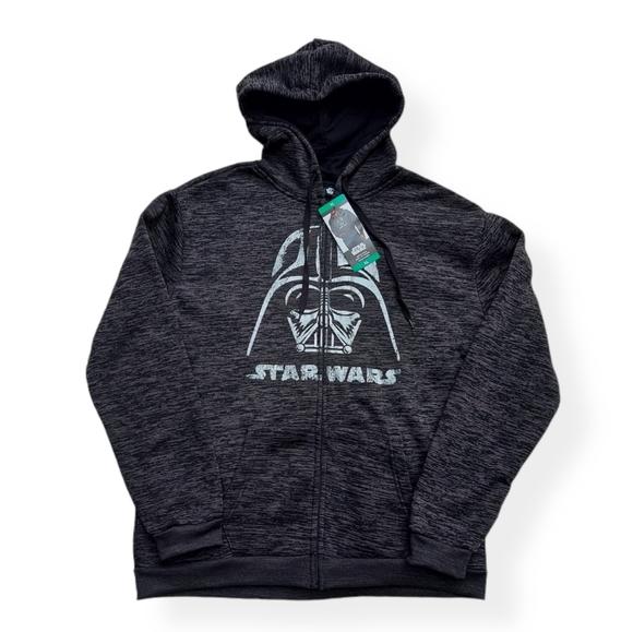 Star Wars Darth Vader Full Zip Hoodie Charcoal NWT